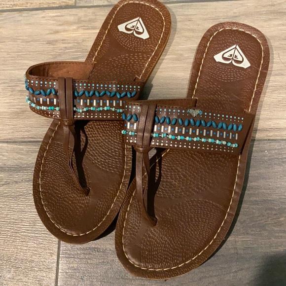 Roxy beaded sandals